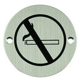 Nerezový piktogram okrúhly - zákaz fajčiť