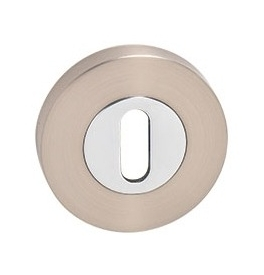 MP - Rosette - R - NP / OC - Nickel perle / Chrom glänzend