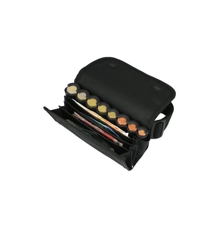 Kellner-Geldbörse aus Textilstoff T4+1